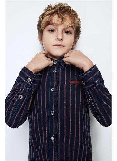 Nebbati Erkek Çocuk Jean Gömlek Lacivert